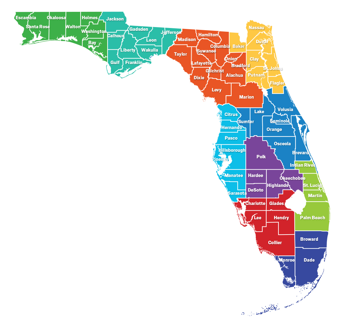 Florida RCP map